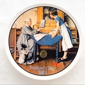 Norman Rockwell Plate Mother's Day 1983